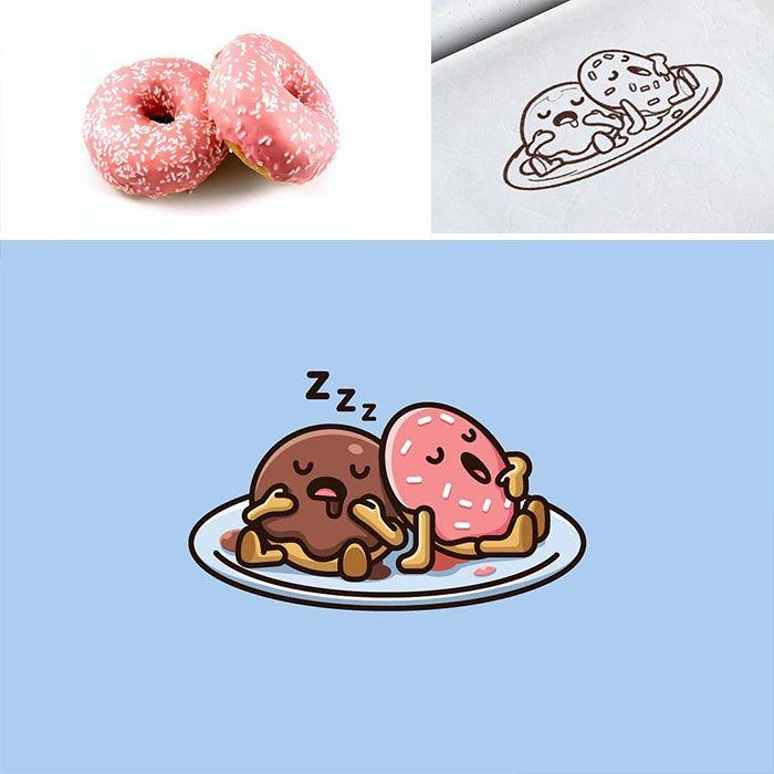 Artista cria adoráveis ilustrações inspiradas em coisas aleatórias (40 fotos) 28