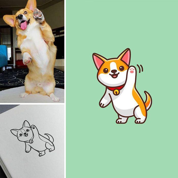 Artista cria adoráveis ilustrações inspiradas em coisas aleatórias (40 fotos) 31