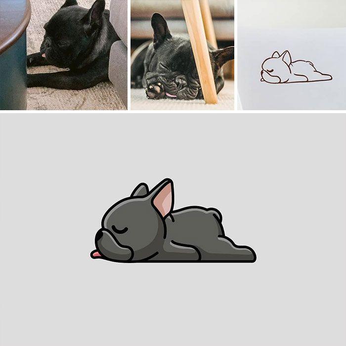 Artista cria adoráveis ilustrações inspiradas em coisas aleatórias (40 fotos) 40