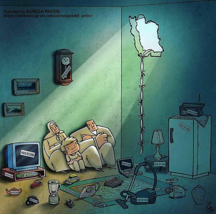 Artista faz duras críticas a sociedade moderna com ilustrações instigantes (40 fotos) 9