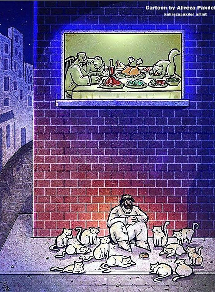 Artista faz duras críticas a sociedade moderna com ilustrações instigantes (40 fotos) 21