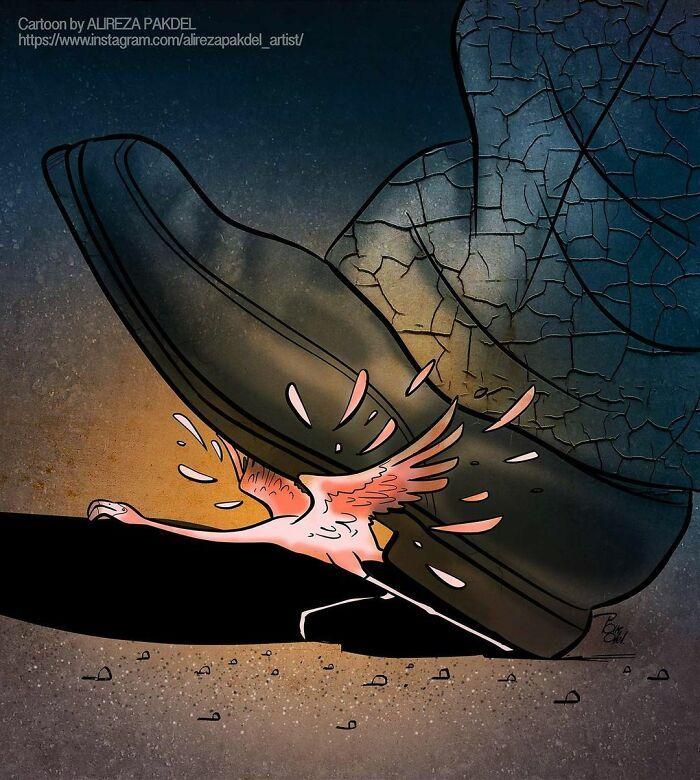 Artista faz duras críticas a sociedade moderna com ilustrações instigantes (40 fotos) 23