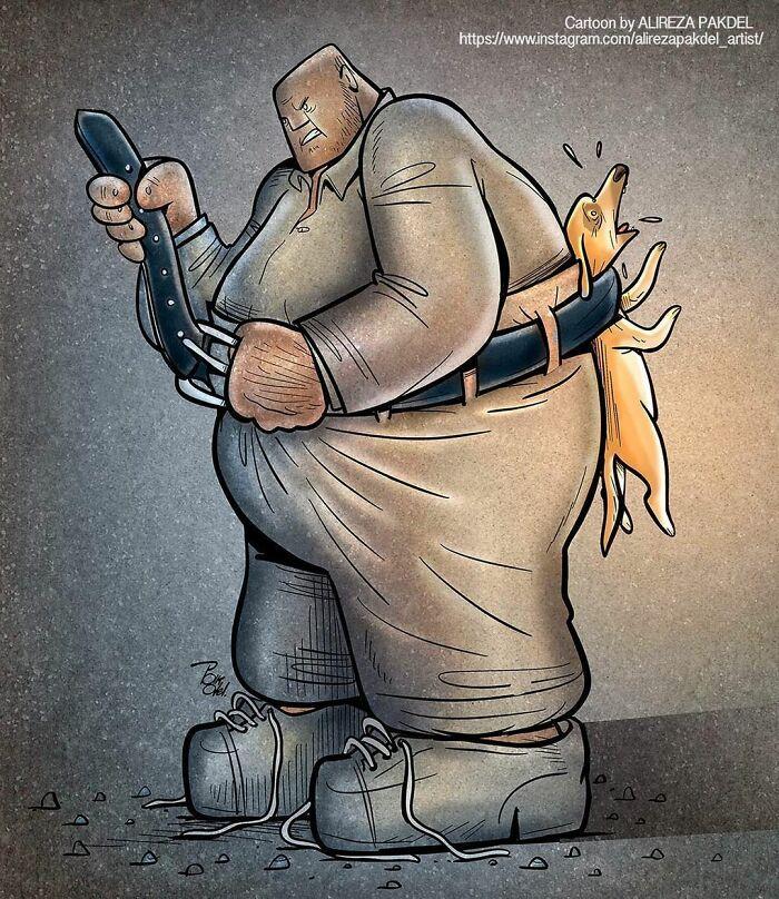Artista faz duras críticas a sociedade moderna com ilustrações instigantes (40 fotos) 24