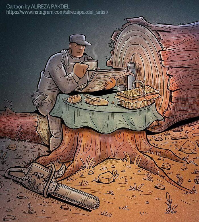 Artista faz duras críticas a sociedade moderna com ilustrações instigantes (40 fotos) 26