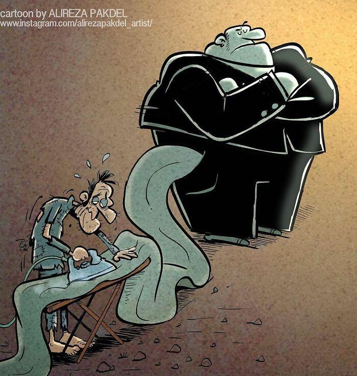 Artista faz duras críticas a sociedade moderna com ilustrações instigantes (40 fotos) 36