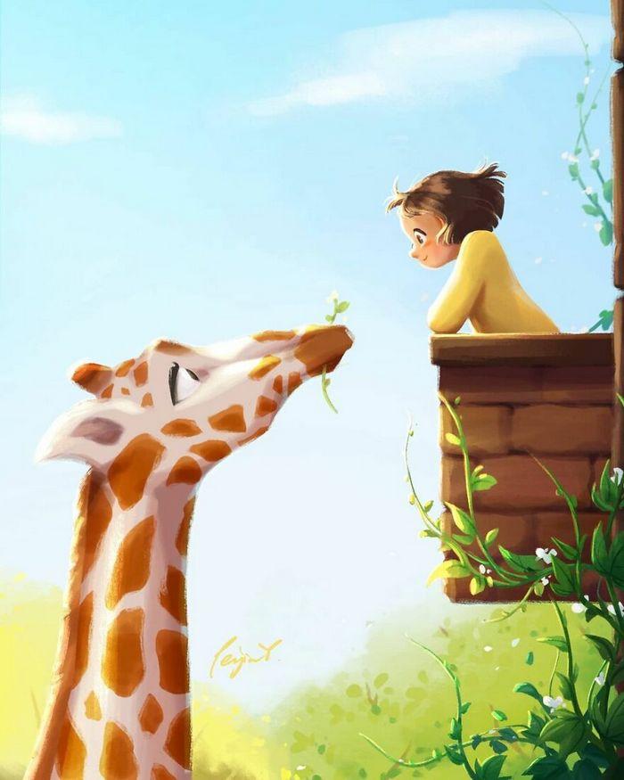 Artista ilustra fazer qualquer coisa com animais por perto é muito melhor (29 fotos) 15
