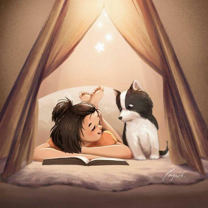 Artista ilustra fazer qualquer coisa com animais por perto é muito melhor (29 fotos) 20
