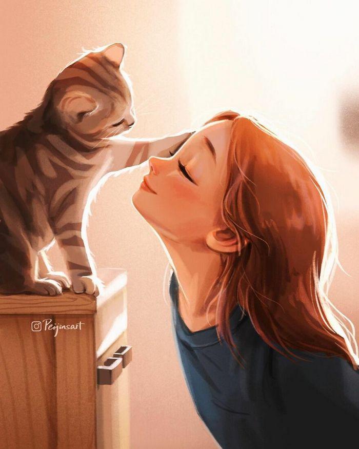 Artista ilustra fazer qualquer coisa com animais por perto é muito melhor (29 fotos) 27