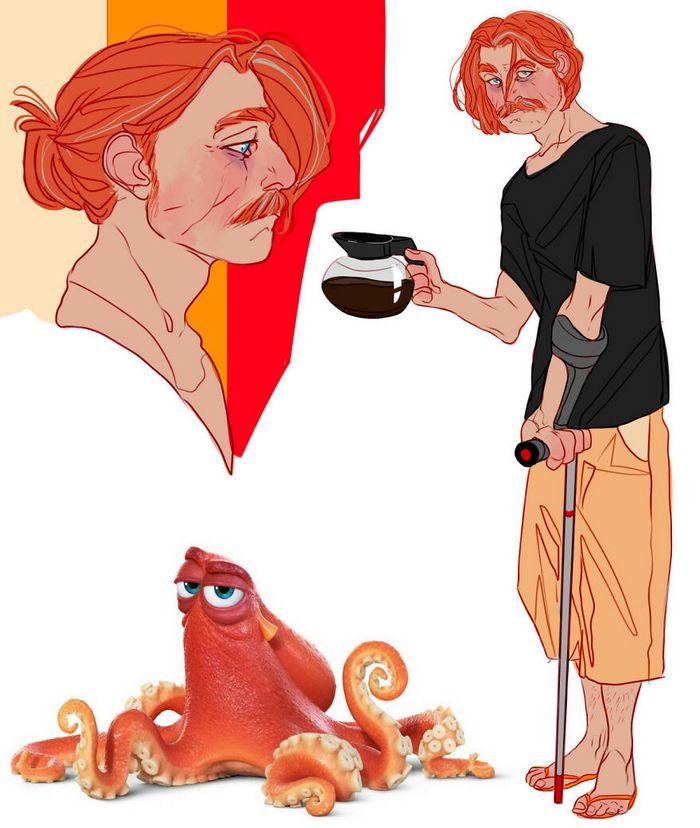 Artista transforma personagens de desenho animado em humanos (36 fotos) 10