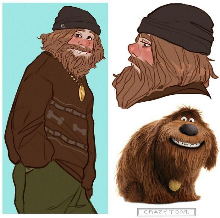 Artista transforma personagens de desenho animado em humanos (36 fotos) 14