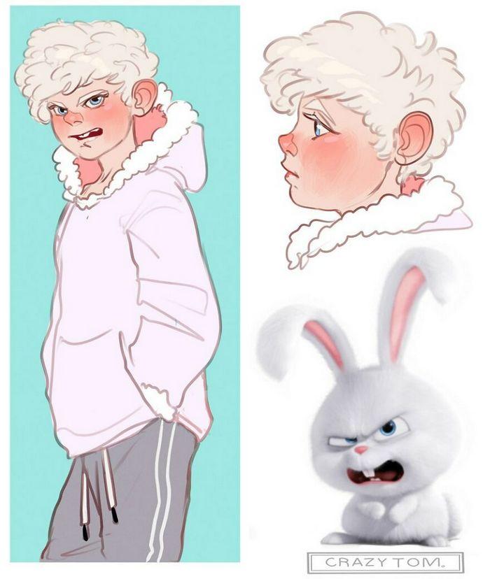 Artista transforma personagens de desenho animado em humanos (36 fotos) 17