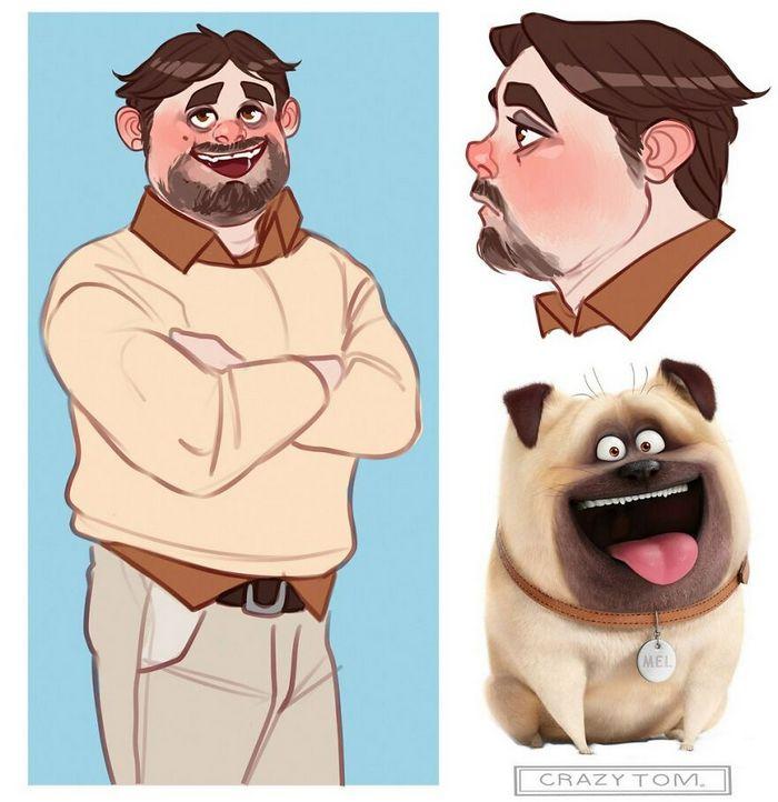 Artista transforma personagens de desenho animado em humanos (36 fotos) 18