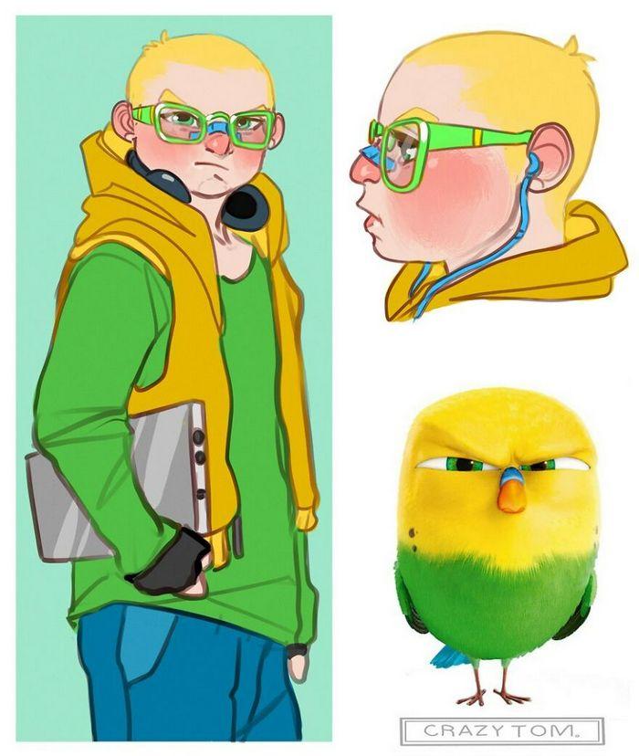 Artista transforma personagens de desenho animado em humanos (36 fotos) 20