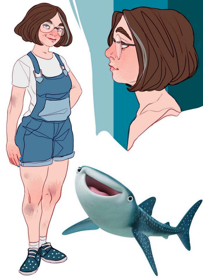 Artista transforma personagens de desenho animado em humanos (36 fotos) 24