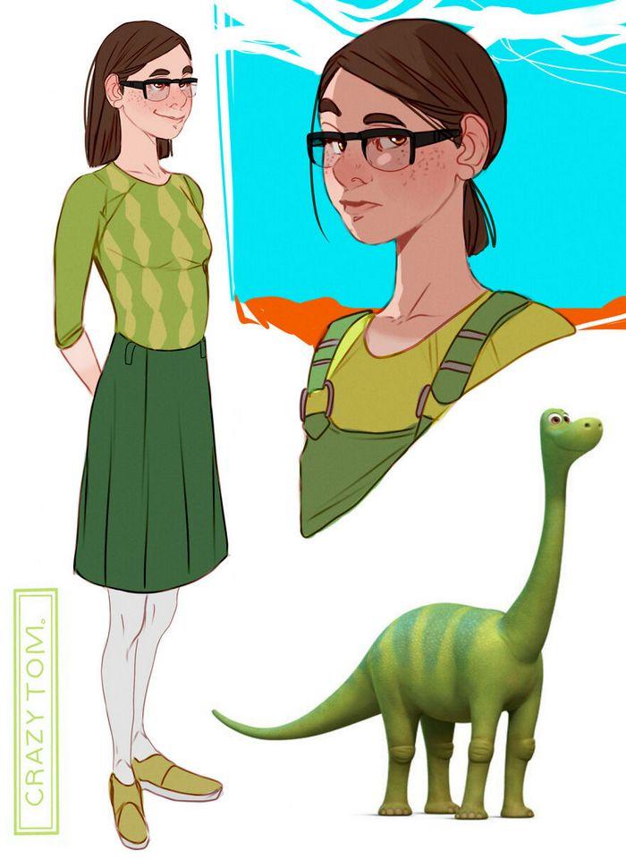 Artista transforma personagens de desenho animado em humanos (36 fotos) 30