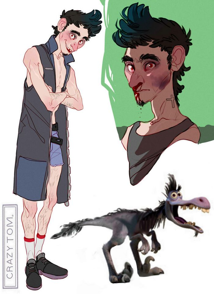 Artista transforma personagens de desenho animado em humanos (36 fotos) 36