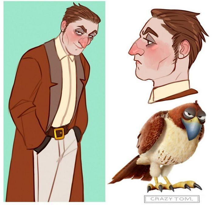 Artista transforma personagens de desenho animado em humanos (36 fotos) 37