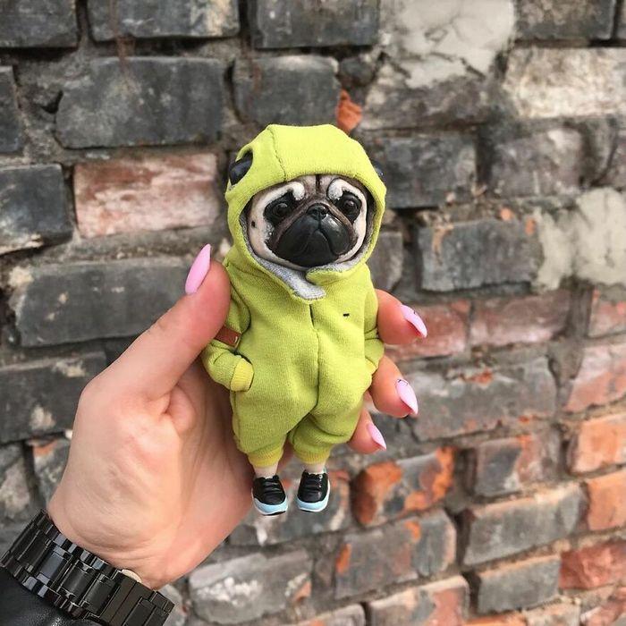 42 bonecos de animais de barro com roupas da moda 4
