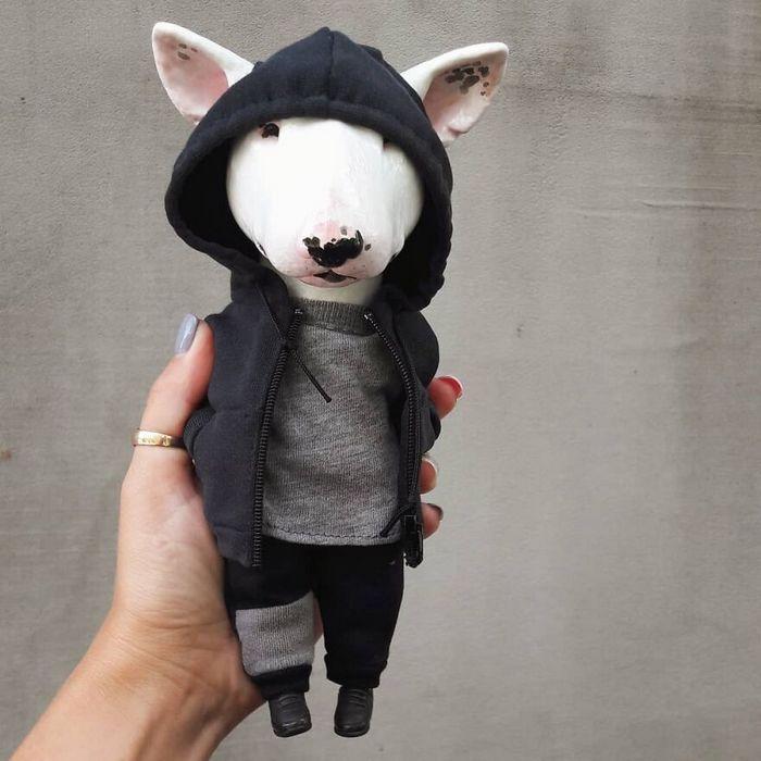 42 bonecos de animais de barro com roupas da moda 5