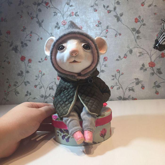 42 bonecos de animais de barro com roupas da moda 22