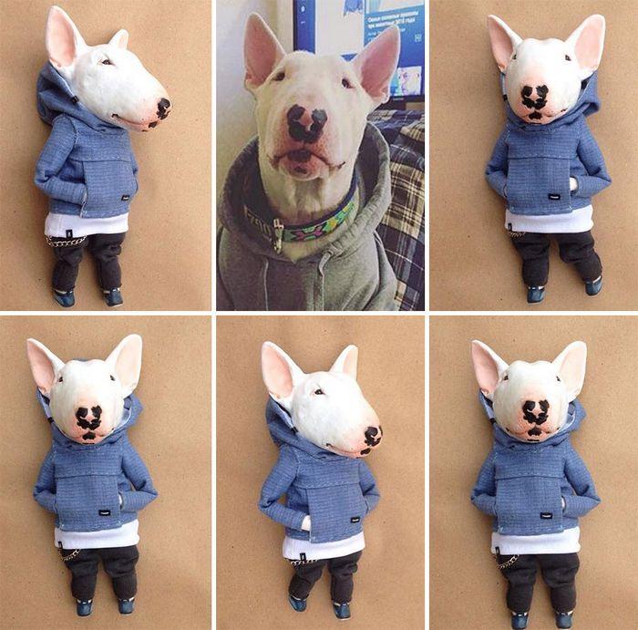 42 bonecos de animais de barro com roupas da moda 42