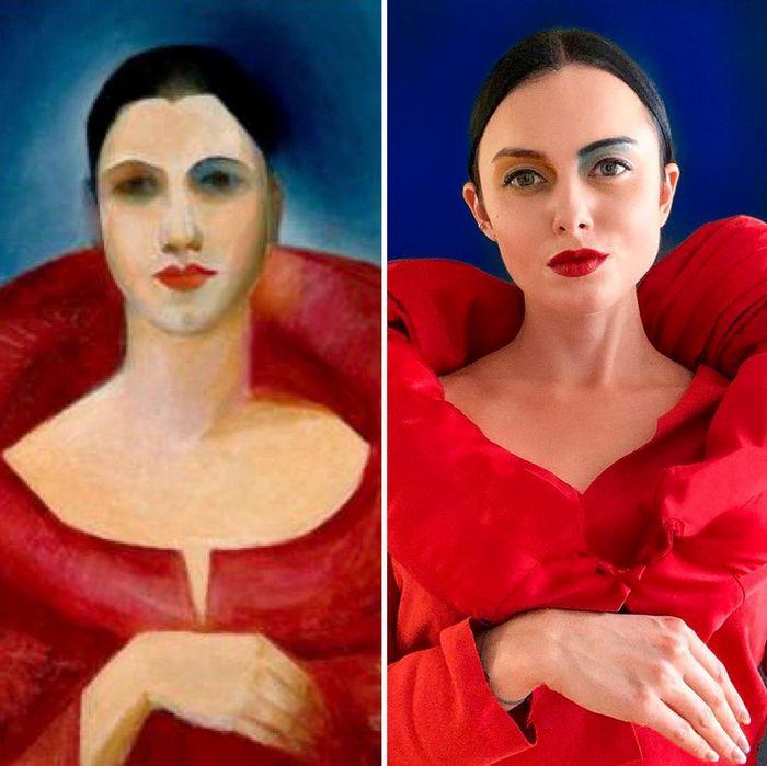 Crítica de arte recria 42 pinturas e figuras famosas da cultura pop em seus cosplays 5