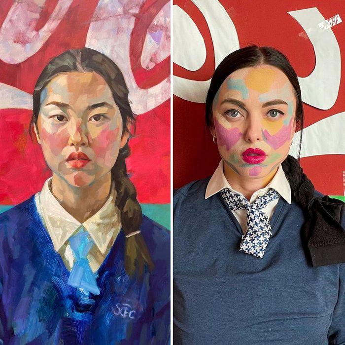Crítica de arte recria 42 pinturas e figuras famosas da cultura pop em seus cosplays 7