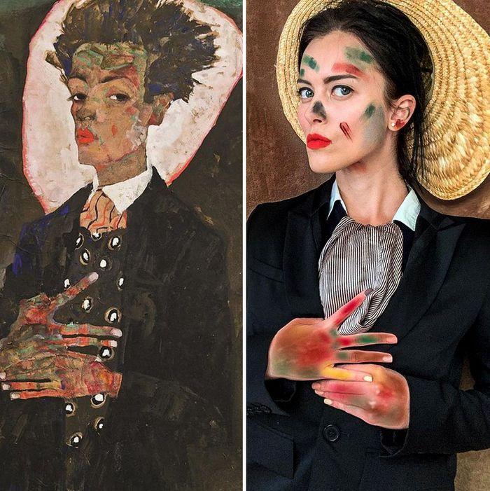 Crítica de arte recria 42 pinturas e figuras famosas da cultura pop em seus cosplays 17