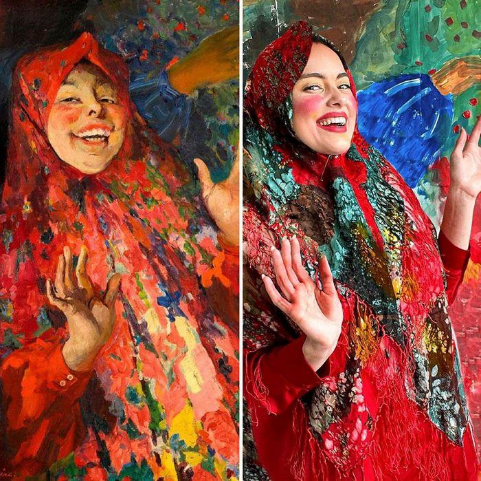 Crítica de arte recria 42 pinturas e figuras famosas da cultura pop em seus cosplays 39