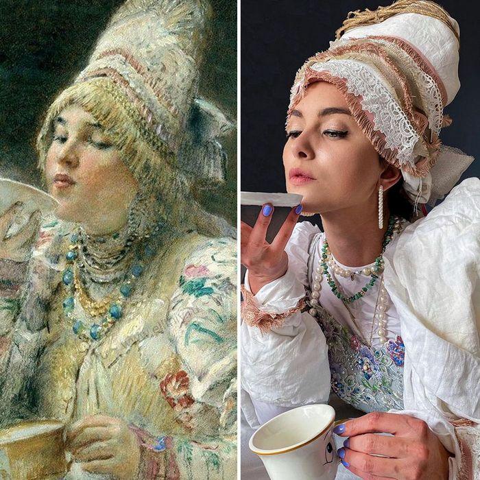 Crítica de arte recria 42 pinturas e figuras famosas da cultura pop em seus cosplays 40