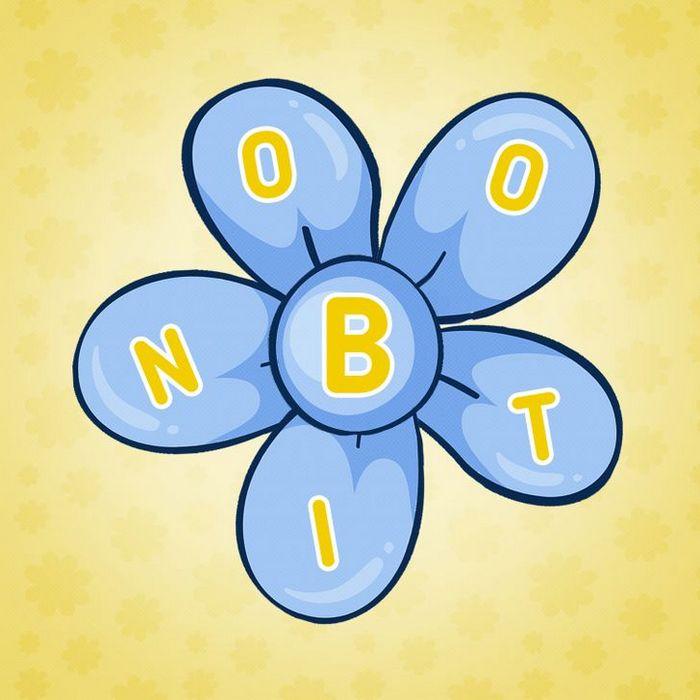 Encontre 20 palavras que está escondido nestas flores 3