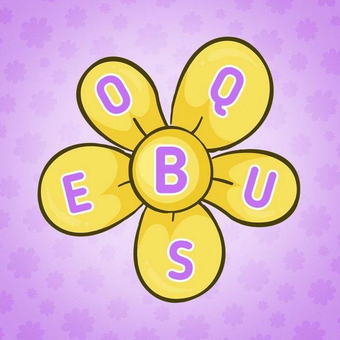 Encontre 20 palavras que está escondido nestas flores 4