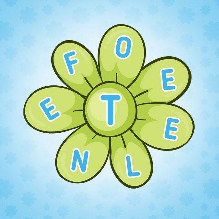 Encontre 20 palavras que está escondido nestas flores 11