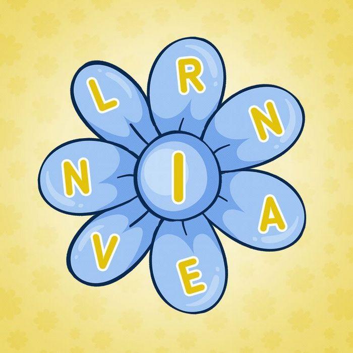 Encontre 20 palavras que está escondido nestas flores 13