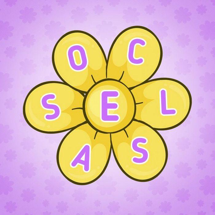 Encontre 20 palavras que está escondido nestas flores 16