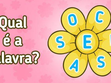 Encontre 20 palavras que está escondido nestas flores 1