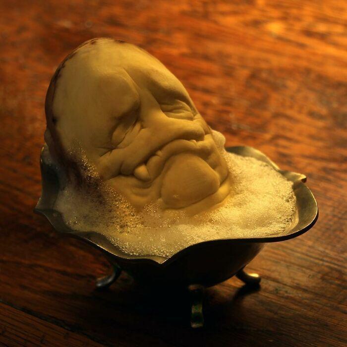 38 esculturas de frutas e vegetais inspiradas na cultura pop, terror, fantasia 10
