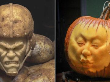 38 esculturas de frutas e vegetais inspiradas na cultura pop, terror, fantasia 38