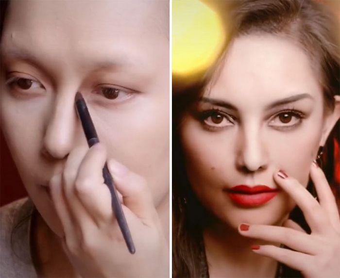 Esta maquiadora pode se transformar em qualquer celebridades, e ela está se tornando viral no TikTok (20 fotos) 11