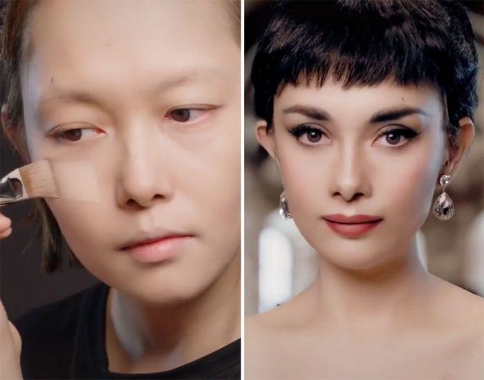 Esta maquiadora pode se transformar em qualquer celebridades, e ela está se tornando viral no TikTok (20 fotos) 13