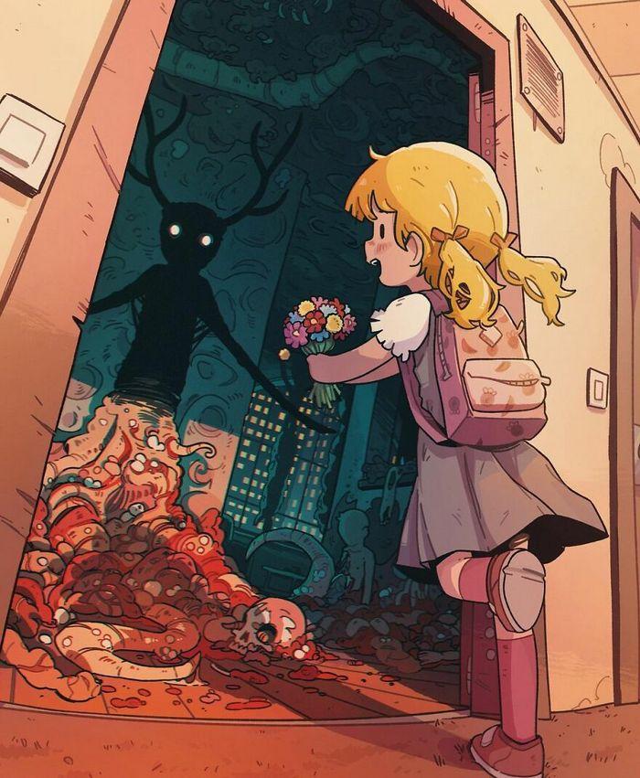 Este artista cria ilustrações estranhamente aconchegantes que são assustadoras ao mesmo tempo (45 fotos) 22
