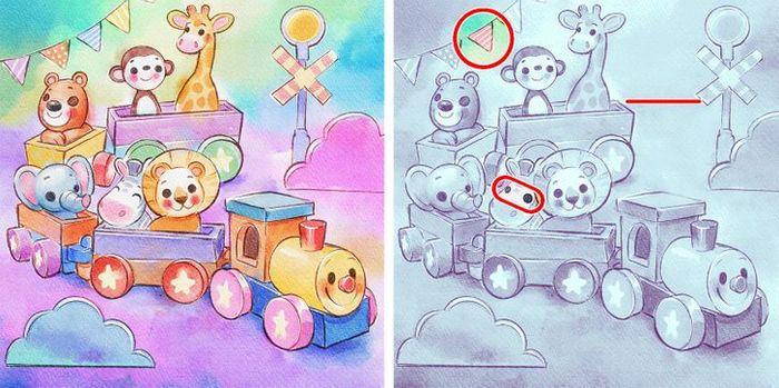 Jogo do erro: Teste sua capacidade de observação e encontra as 3 diferenças nas imagens 21