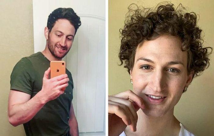 28 pessoas que mudaram radicalmente depois que deixaram o cabelo crescer 3