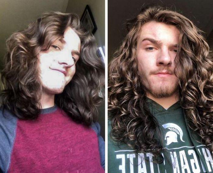 28 pessoas que mudaram radicalmente depois que deixaram o cabelo crescer 9