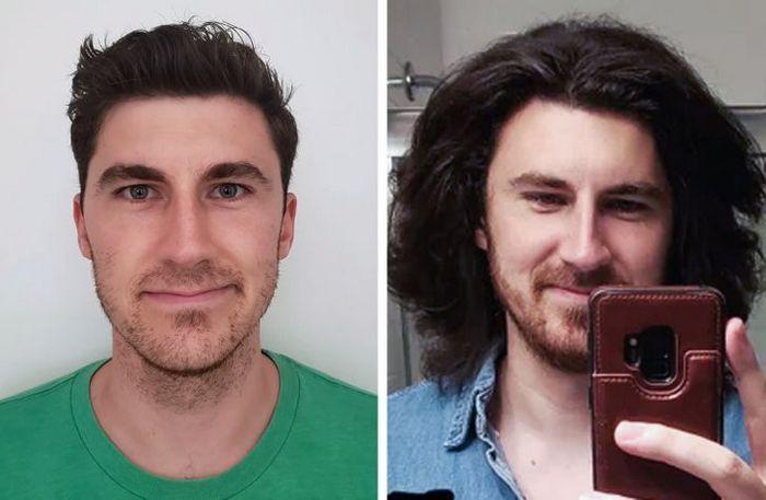 28 pessoas que mudaram radicalmente depois que deixaram o cabelo crescer 14