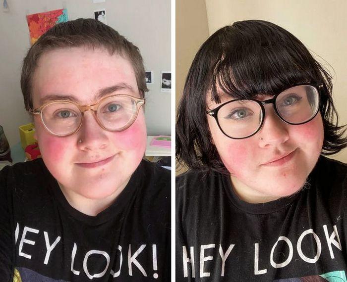 28 pessoas que mudaram radicalmente depois que deixaram o cabelo crescer 18