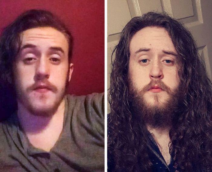 28 pessoas que mudaram radicalmente depois que deixaram o cabelo crescer 19