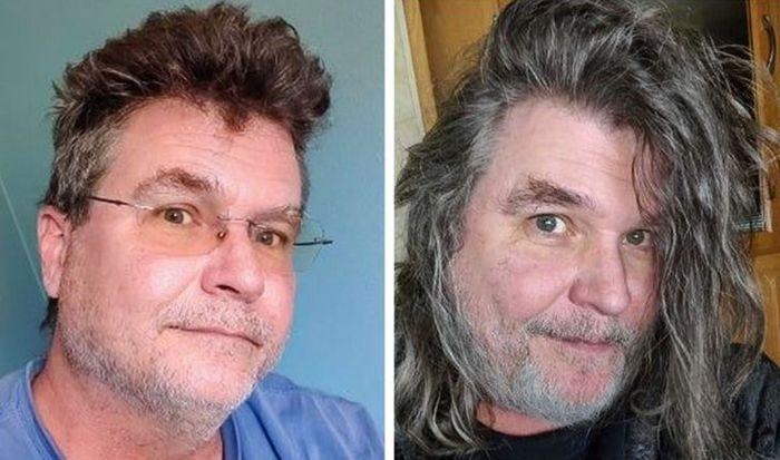 28 pessoas que mudaram radicalmente depois que deixaram o cabelo crescer 21