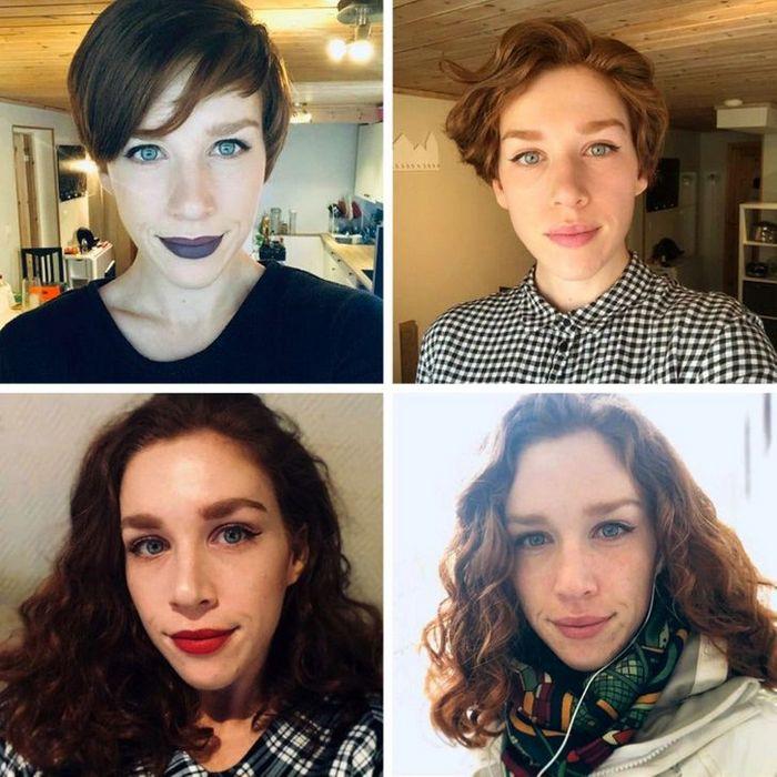 28 pessoas que mudaram radicalmente depois que deixaram o cabelo crescer 22