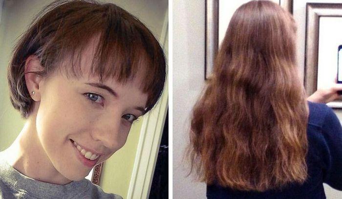 28 pessoas que mudaram radicalmente depois que deixaram o cabelo crescer 23